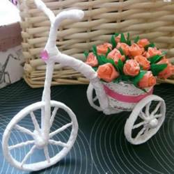 玩具花车的制作方法图解 三轮车玩具DIY过程