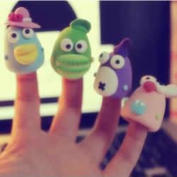 仿佛糖果般可爱 软陶粘土指套玩偶作品图片