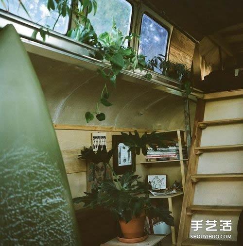 实现四海为家的梦想 旧面包车改造的温馨房车 -  www.shouyihuo.com
