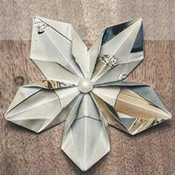 折纸五角星花图解 五角星花的折法详细步骤