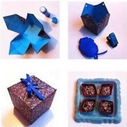 如何折纸盒 方形带盖子纸盒的折法手工制