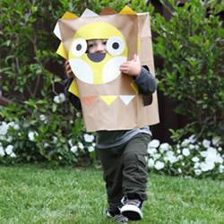 牛皮纸袋制作儿童玩具 套上就变成可爱动