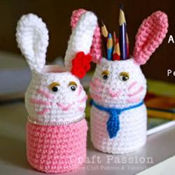 兔子笔筒的制作方法 可爱儿童笔筒小兔子DIY