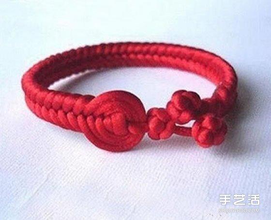 中國風紅繩手鏈編法教程 編紅繩手鏈的方法圖解
