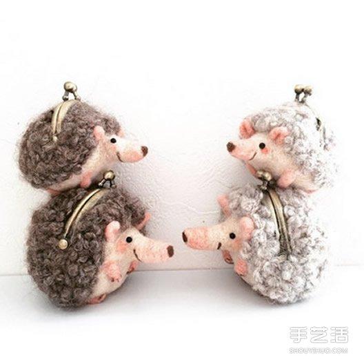 刺蝟羊毛氈口金包 快用零錢餵飽它圓滾身軀