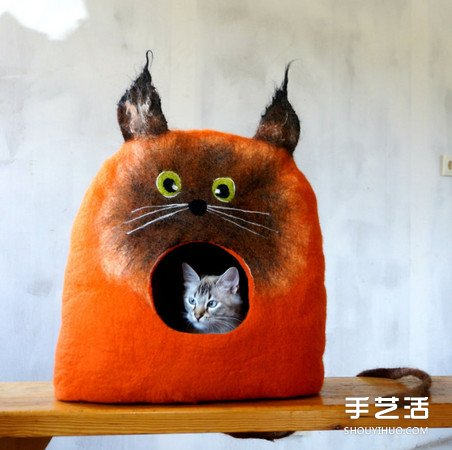 羊毛毡打造猫窝 连屋子都打呵欠了能不睡吗! -  www.shouyihuo.com