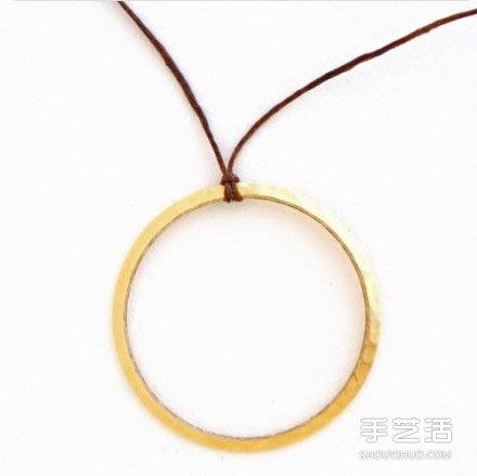 可愛繩編耳環DIY製作 帶珠子耳環製作教程