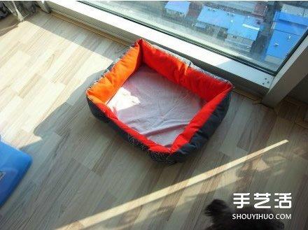 溫暖又舒適的手工布藝狗窩DIY製作教程帶圖紙