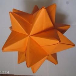 手工立体花球折纸图解 俄罗斯花球的折法