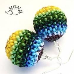 串珠圆球手工制作图解 串珠圆形珠子DI