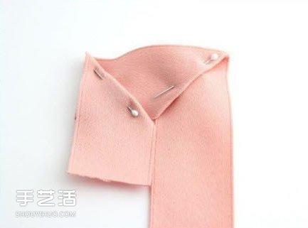 不織布玫瑰花髮夾DIY 手工布藝玫瑰髮夾製作
