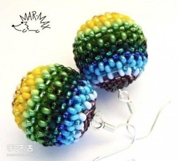 串珠圓球手工製作圖解 串珠圓形珠子DIY教程