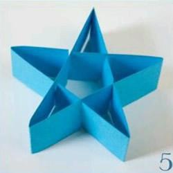 简单立体五角星的折法 儿童折纸立体星星图解