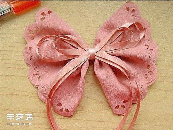 兩款蝴蝶結髮飾DIY 布藝蝴蝶結髮飾發卡製作