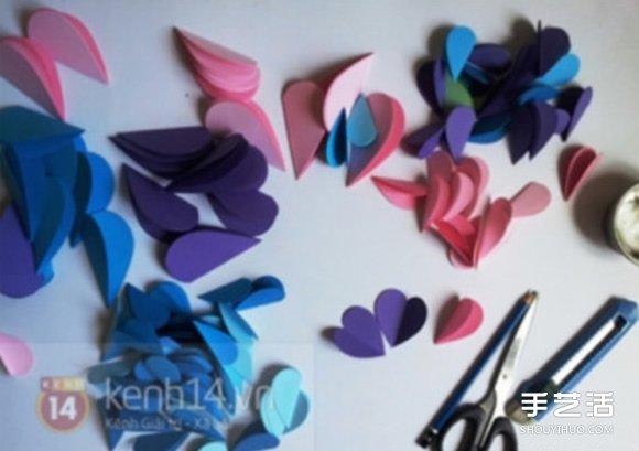 漂亮立体爱心手工制作 立体心形制作方法图解 -  www.shouyihuo.com