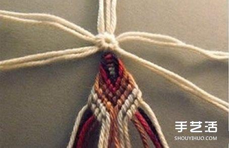 花朵杯墊的編法圖解 手工編織杯墊的方法教程