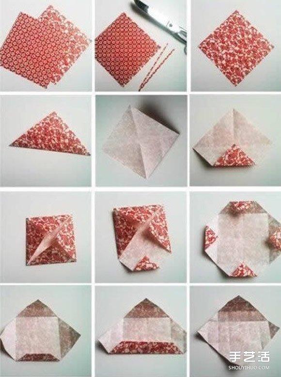 折纸大全圣诞礼物_带盖子方形纸盒的折法 常见方形盒子折纸图解_手艺活网