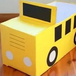 纸箱纸盒废物利用DIY手工制作儿童汽车玩