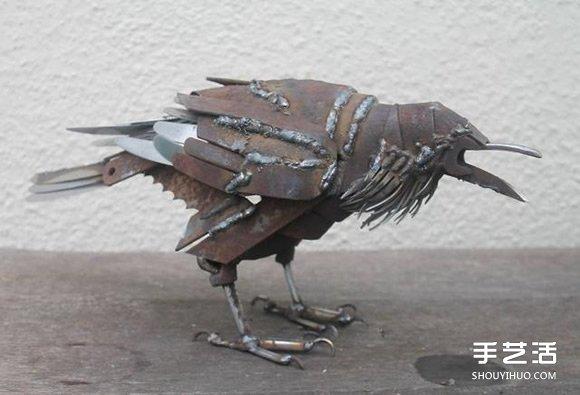 廢棄金屬變廢為寶DIY翠鳥、藍蝶、喜鵲等動物