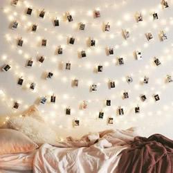 圣诞灯饰别急着收!简单DIY让房间布置变梦幻
