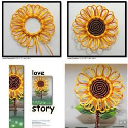 手工太阳花的编法图解 编织太阳花的方法教程