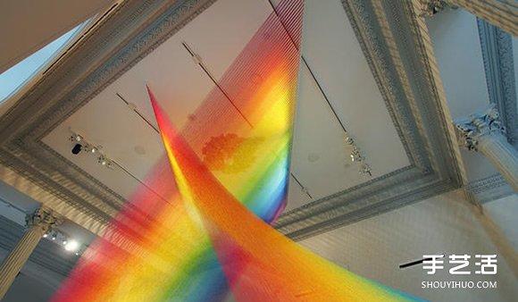 玩美視覺遊戲!利用絲線DIY永不消失的彩虹