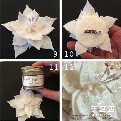 手工布藝蓮花的製作方法 可以當胸花髮帶髮飾