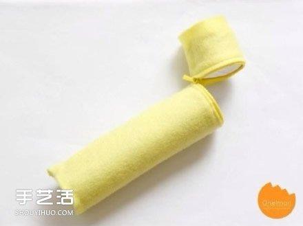 捲紙筒廢物利用DIY 可以用來製作布藝筆筒