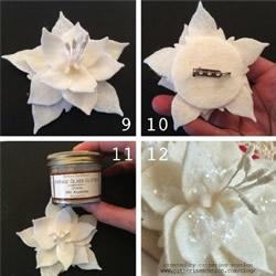 手工布艺莲花的制作方法 可以当胸花发带
