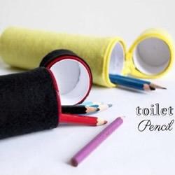 卷纸筒废物利用DIY 可以用来制作布艺笔筒