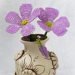 串珠花的教程图解 串珠花朵手工制作方法