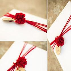 礼品盒包装装饰DIY 用毛线简单装饰包装盒