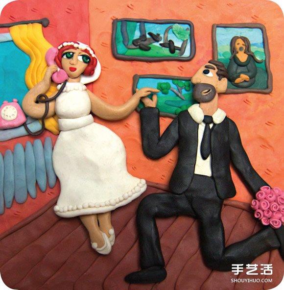 """爸媽結婚30年!女兒送上""""童年回憶""""粘土作品"""