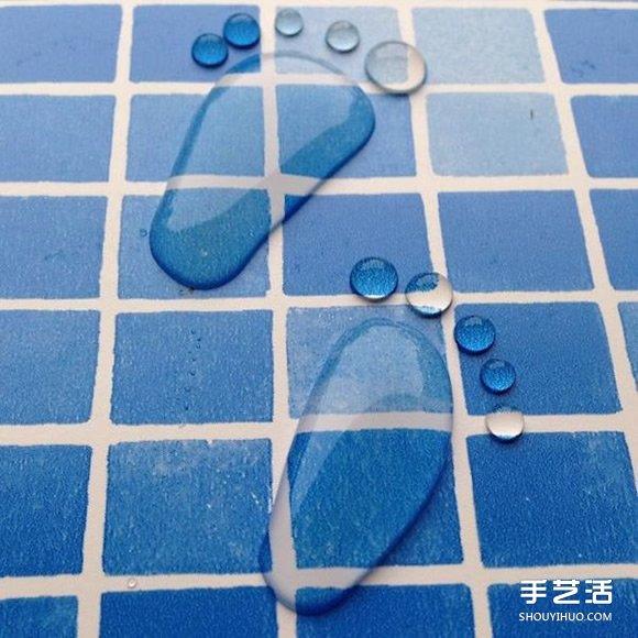 表面張力來作畫!清新治癒系的水滴畫作品