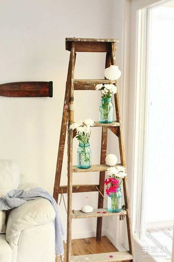 廢舊木梯別急着丟:超實用舊梯子改造DIY創意