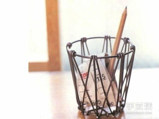 鋁線筆筒的製作方法步驟 用鋁線DIY筆筒的教程