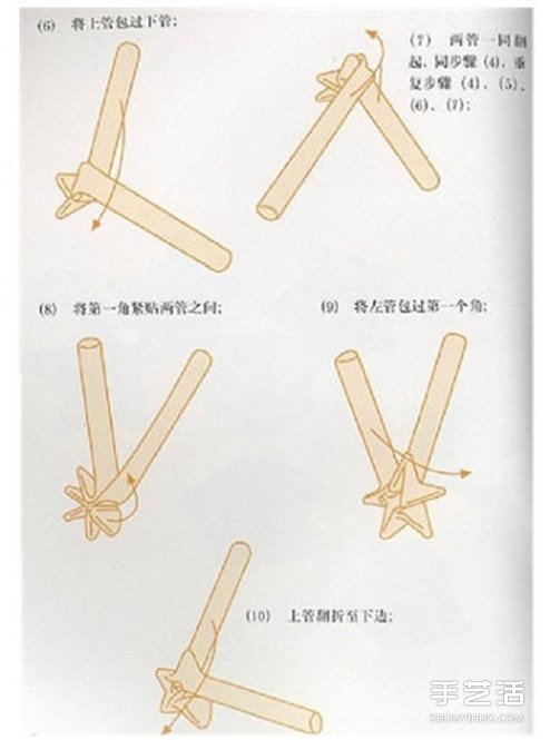 怎麼用吸管折星星的方法 吸管星星的折法圖解