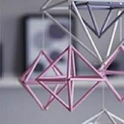 吸管废物利用小制作 DIY立体菱形装饰挂件