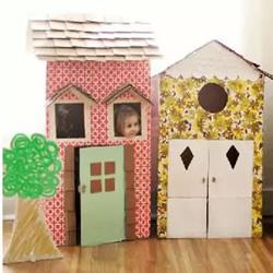 废旧纸箱制作房子的方法 儿童玩具小屋