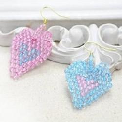自制串珠耳环的方法 心形串珠耳环DIY教程