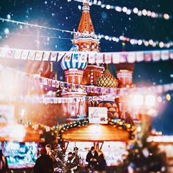 宛如北国仙境的莫斯科 呈现出梦幻的童话