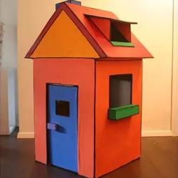 手工制作纸箱房子教程 DIY纸箱房子的做法