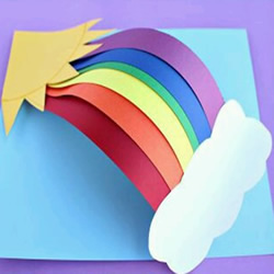 彩虹贺卡手工制作 适合儿童的彩虹卡片
