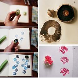 蔬菜花朵变印章 简简单单就DIY出美丽图案