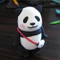 超轻粘土大熊猫DIY手工制作图解教程