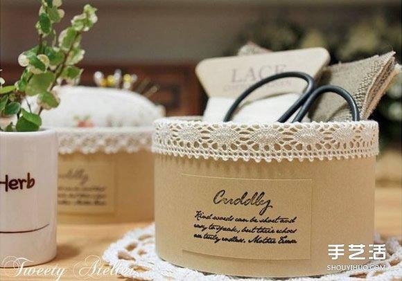 透明膠帶紙筒廢物利用 DIY製作漂亮的收納盒
