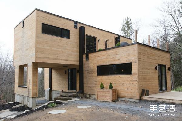 集裝箱房改造:四個鐵皮貨櫃變成豪華小別墅