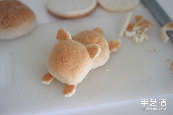 神可爱懒熊汉堡的做法 我怎么舍得吃你呀~