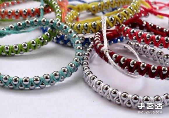 編織繩纏繞上金屬珠串 DIY混搭出你的專屬手鏈