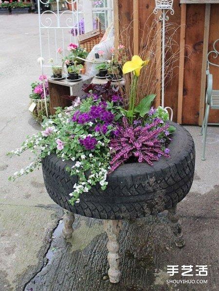 廢棄輪胎廢舊利用DIY 輪胎廢物利用手工製作